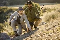 Dr. King Schultz (Christoph Waltz, l.) und Django (Jamie Foxx, r.) in Sony Pictures DJANGO UNCHAINED.