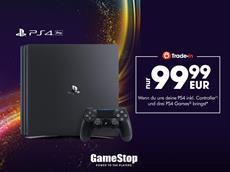 Neue PS4 Pro-Eintauschaktion bei GameStop: PS4 inkl. Games und Controller abgeben und PS4 Pro für nur 99,99€sichern!