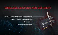 Rivet Networks veröffentlicht die Killer AX1650 PCIe Karte mit WiFI6 Unterstützung
