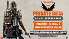 Tom Clancy's The Division 2  Private Beta wird vom 07. bis 11. Februar zugänglich sein