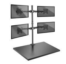 Volle Kontrolle über bis zu vier Bildschirme mit der neuen Lindy-Tischhalterung