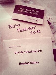 BESTER PUBLISHER 2012: Wir sagen Dankeschön!