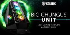 Das Kolink Big Chungus UNIT Edition Showcase setzt Gaming-Hardware perfekt in Szene