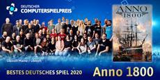 Deutscher Computerspielpreis: Anno 1800<sup>&trade;</sup> Bestes Deutsches Spiel 2020