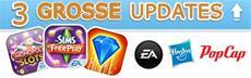 EA Appnews - Die Sims FreiSpiel, Bejeweled Blitz, MONOPOLY Slots