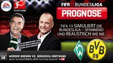 FIFA 13 Bundesliga Prognose: Borussia Dortmund will gegen Werder die Aufholjagd starten