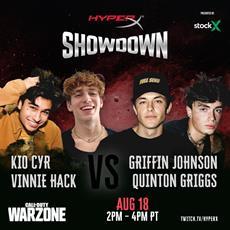 HyperX Showdown Comes in Live with Griffin Johnson, Kio Cyr, Quinton Griggs, and Vinnie Hacker