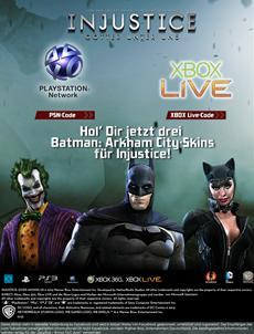 Injustice: Götter unter uns – Facebook App mit exklusiven Batman: Arkham City Skins veröffentlicht