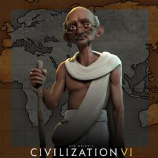 Mahatma Ghandi führt Indien in Civilization VI an