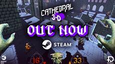 Retro-looking arcade fps CATHEDRAL 3-D is OUT NOW on Steam